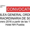 Convocatorias Asamblea General Ordinaria y Extraordinaria de Socios