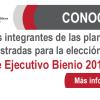 Conoce las Planillas registradas para la elección del Comité Ejecutivo Bienio 2017-2018