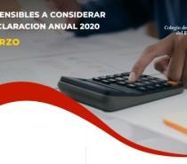 PUNTOS SENSIBLES A CONSIDERAR DE LA DECLARACION ANUAL 2020