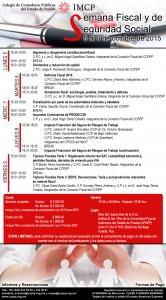 Invitación Semana Fiscal y de Seguridad Social