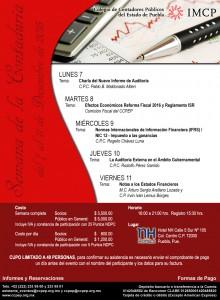 Invitación Semana de la Contaduría-