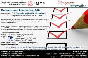 Invitación Desayuno Informativo 4 de febrero 2016