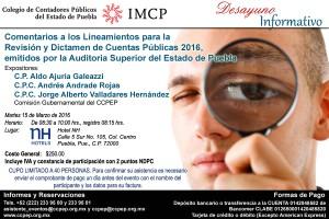 Invitación Desayuno Informativo 15 de marzo 2016