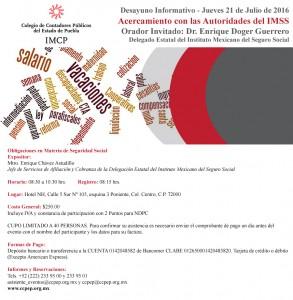 Invitación Desayuno Informativo 21 de julio 2016