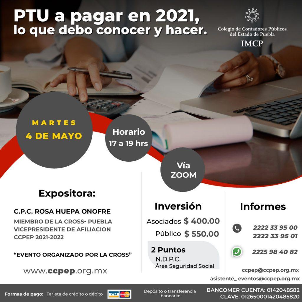 PTU a pagar en 2021