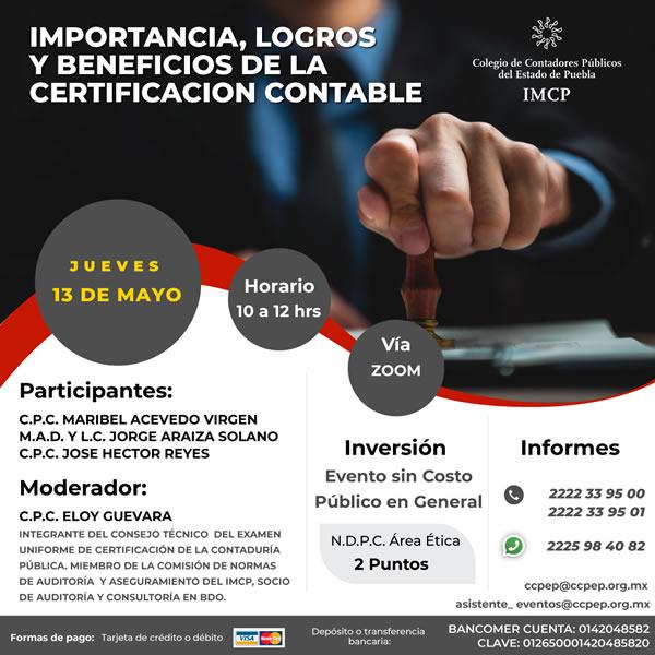Beneficios de la Certificación Contable