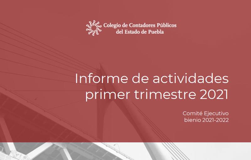 Informe Primer Trimestre 2021