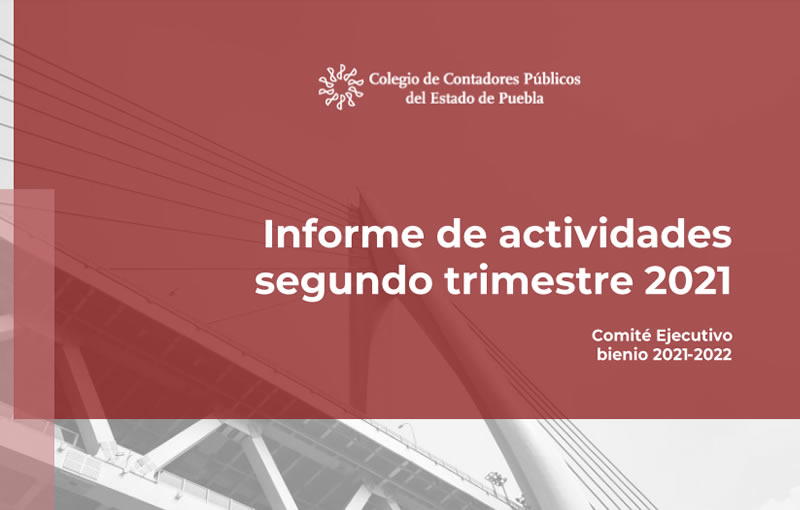 Informe de Actividades Segundo Trimestrre 2021
